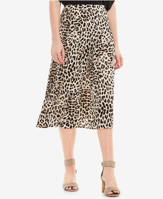 Vince Camuto Animal-Print Pleated Midi Skirt $99 thestylecure.com