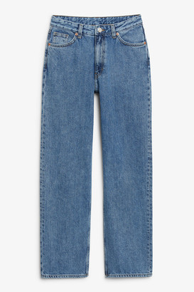 Monki Taiki straight leg blue jeans