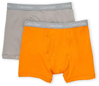 Calvin Klein Boys 8-20) Two-Pack Solid Boxer Briefs