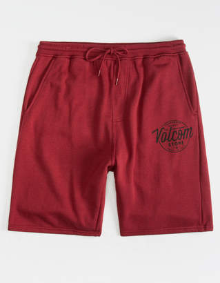 Volcom Rainmaker Cabernet Mens Sweat Shorts