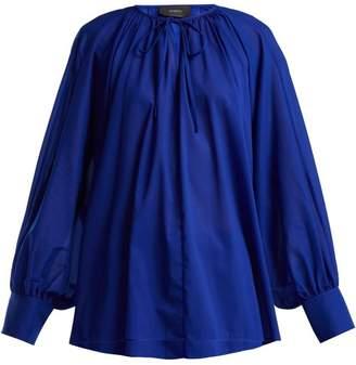 Joseph Niv Tie Neck Crepe Blouse - Womens - Blue