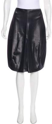 Calvin Klein Collection Satin Knee-Length Skirt