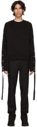 John Lawrence Sullivan Johnlawrencesullivan Black Buttoned Sleeve Sweatshirt