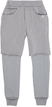 Lennon and Wolfe Layered Cotton-Modal Leggings-GREY $62 thestylecure.com