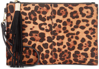 INC International Concepts I.n.c. Molyy Leopard-Print Party Wristlet Clutch, Created for Macy's