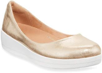 FitFlop Superballerina Glitzy Metallic Ballerina Flats