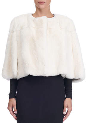 Yves Salomon Rex Rabbit Fur Bolero