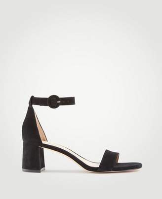Ann Taylor Nicole Suede Block Heel Sandals