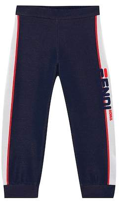 Fendi Kids MANIA cotton-blend trackpants