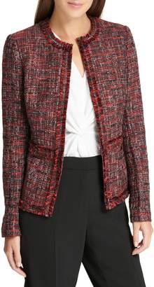 Donna Karan Textured Long-Sleeve Jacket