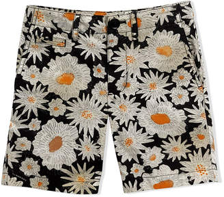 Burberry Daisy print cotton chino shorts