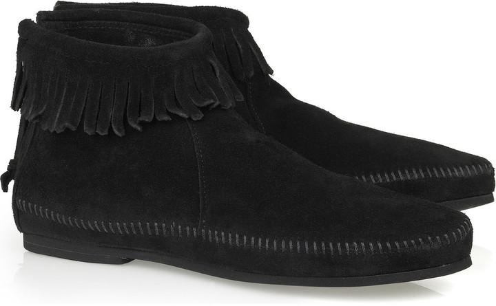 Minnetonka Back zipper moccasin boots