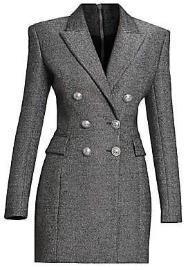 860b08e8 Balmain Women's Double Breasted Wool-Blend Jacket Dress