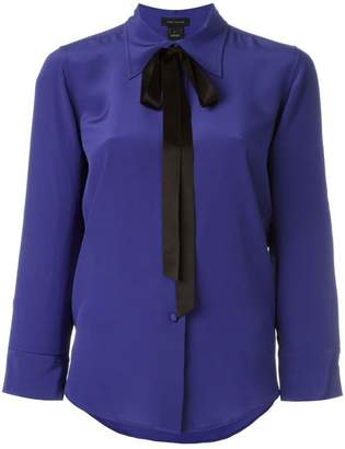 Marc Jacobs crêpe de chine bow shirt