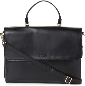 Kenneth Cole Reaction Black Bag-Two-Differ Faux Leather Computer Case
