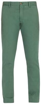 Polo Ralph Lauren Straight Leg Cotton Blend Chino Trousers - Mens - Green