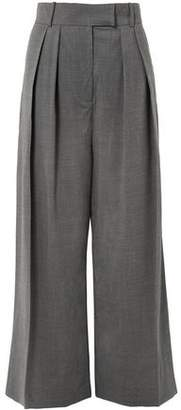 Awake Pleated Wool-blend Wide-leg Pants
