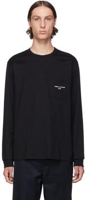 Comme des Garcons Homme Homme Black Logo Long Sleeve T-Shirt