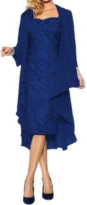 ModeC Lace Mother of The Bride Dress with Chiffon Jacket Wraps Formal Gowns