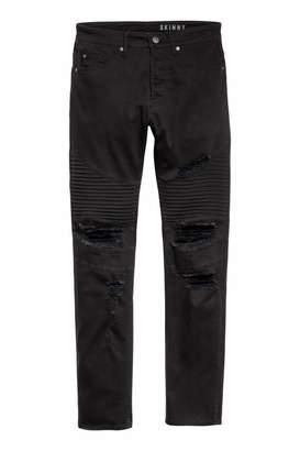 H&M Biker Jeans - Black - Men