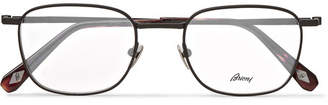 Brioni Square-Frame Titanium Optical Glasses