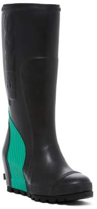 Sorel Joan Tall Waterproof Wedge Rain Boot