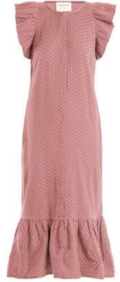Cecilie Copenhagen - Jehro Scarf Jacquard Cotton Dress - Womens - Light Pink