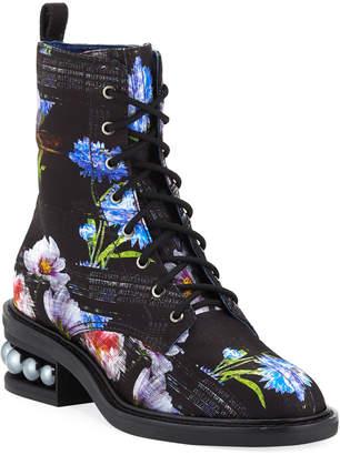 Nicholas Kirkwood Casati Perfection Digital-Print Combat Boots