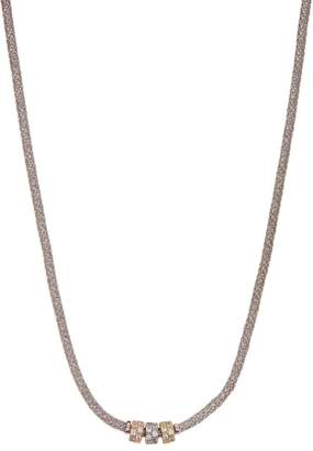 Savvy Cie Italian Sterling Silver & 18K Two-Tone Gold Plated Rondelle Necklace