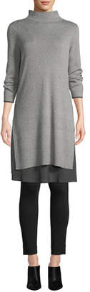 Nic+Zoe Ready-To-Go Layered-Hem Dress