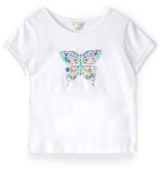 Yumi Girls Butterfly Print T-Shirt