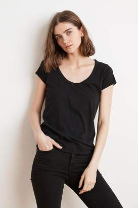 Velvet by Graham & Spencer KIRA ORIGINAL SLUB SCOOP NECK TEE