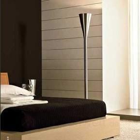 Luminator Designer-Stehleuchte, nickel