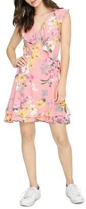 Sanctuary Johanna Sleeveless Floral-Print Wrap Dress