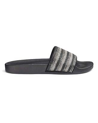Daniel Footwear Maddox Diamante Slides Wide Fit