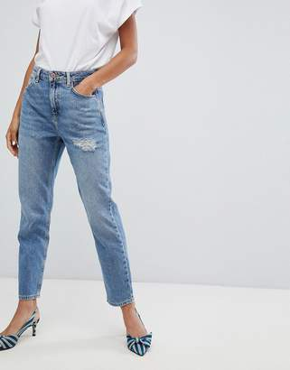 New Look Rome Ripped Mom Jean