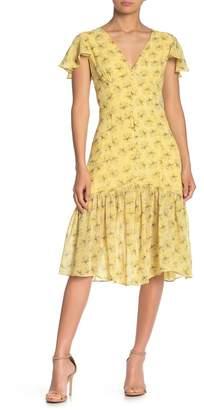 Line & Dot Jamie Floral Ruffle Midi Dress