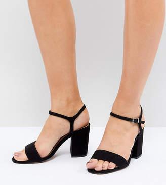cd1ef15e1a9 Asos Design DESIGN Winter Extra Wide Fit Block Heeled Sandals
