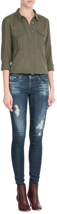 Adriano GoldschmiedAdriano Goldschmied Cotton-Jersey Distressed Skinny Jeans