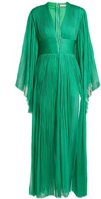 Maria Lucia Hohan Thais deep V-neck silk-tulle dress