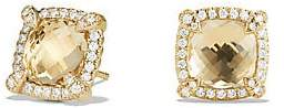 David Yurman Women's Châtelaineé Pave Bezel Stud Earring with Champagne Citrine and Diamonds