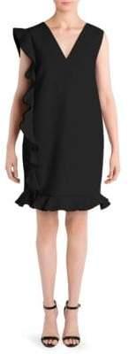 MSGM Side Ruffle Shift Dress