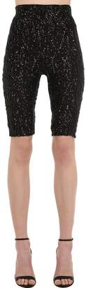 16Arlington High Waist Sequined Lace Cycling Shorts