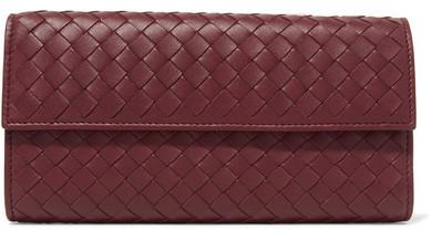 Bottega VenetaBottega Veneta - Intrecciato Leather Wallet - Burgundy