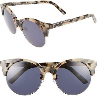 E.m. Pared Up & At 55mm Retro Sunglasses