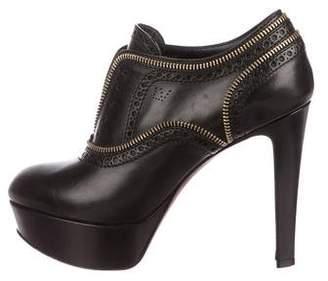 Louis Vuitton Leather Platform Booties