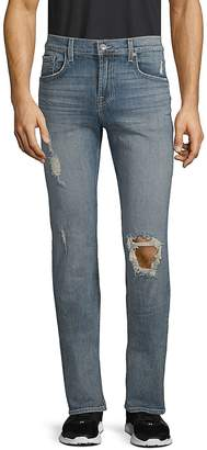 7 For All Mankind Men's Slimmy Stretch Cotton Ripped Jeans