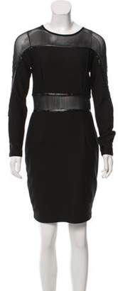 Aq/Aq Mesh Paneled Dress Black Mesh Paneled Dress