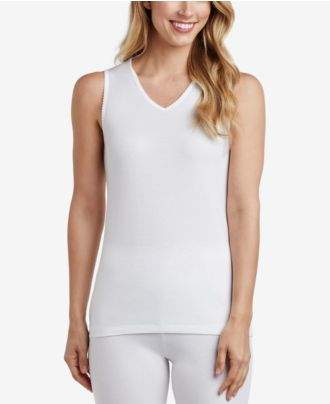 Cuddl Duds Softwear Lace-Trim V-Neck Tank Top
