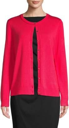 Calvin Klein Collection Cropped Rib-Knit Cardigan